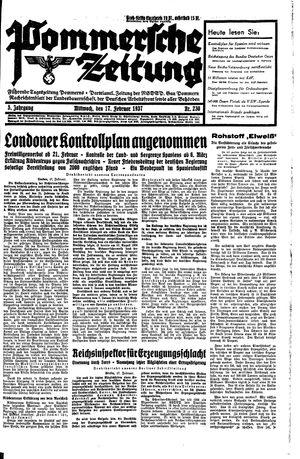 Pommersche Zeitung on Feb 17, 1937