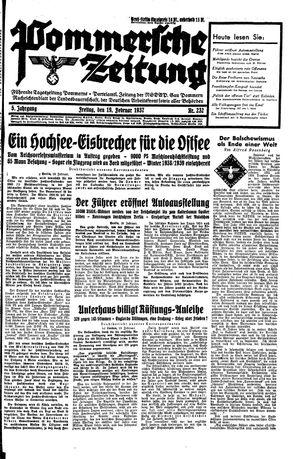 Pommersche Zeitung vom 19.02.1937