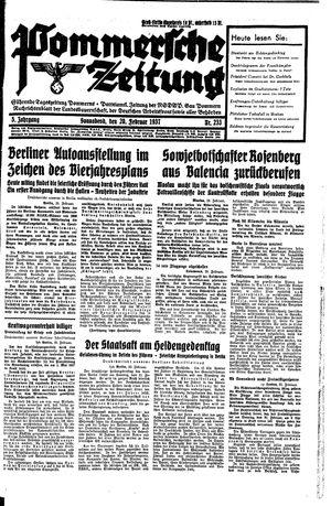 Pommersche Zeitung vom 20.02.1937