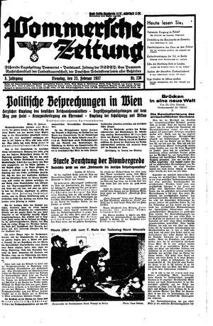 Pommersche Zeitung vom 23.02.1937