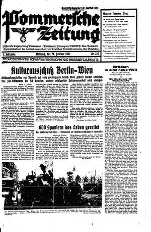 Pommersche Zeitung vom 24.02.1937