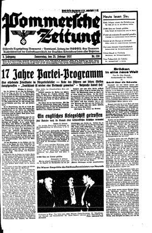 Pommersche Zeitung vom 25.02.1937