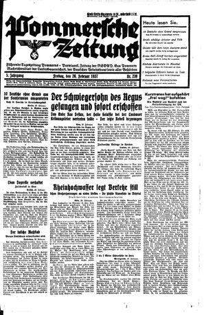 Pommersche Zeitung vom 26.02.1937