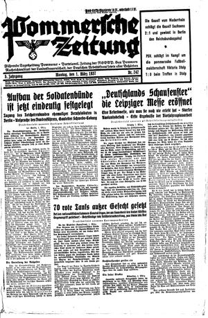 Pommersche Zeitung vom 01.03.1937