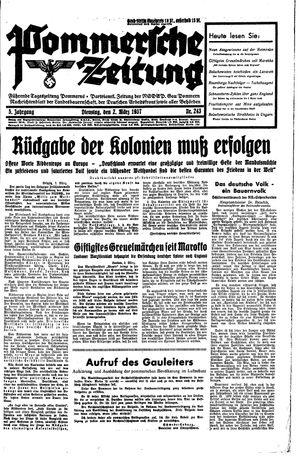 Pommersche Zeitung vom 02.03.1937
