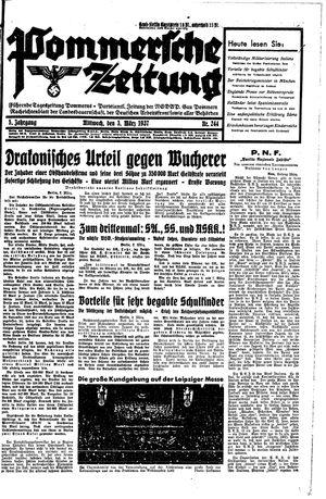 Pommersche Zeitung vom 03.03.1937