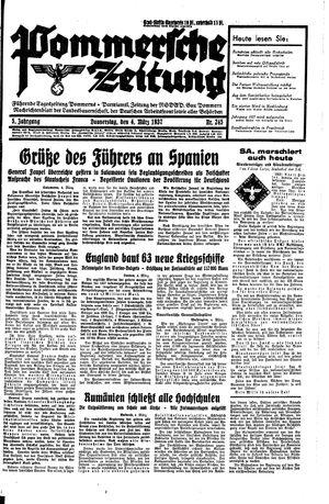 Pommersche Zeitung vom 04.03.1937