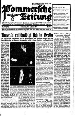 Pommersche Zeitung vom 06.03.1937
