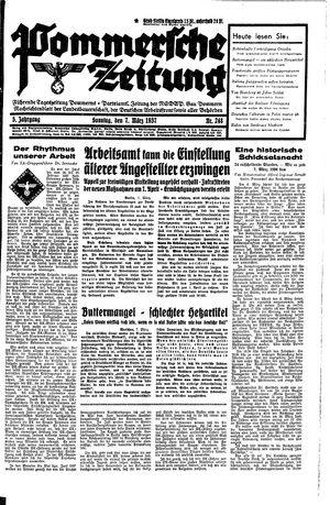 Pommersche Zeitung vom 07.03.1937
