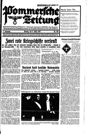 Pommersche Zeitung vom 08.03.1937