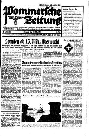Pommersche Zeitung vom 09.03.1937