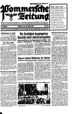 Pommersche Zeitung vom 10.03.1937