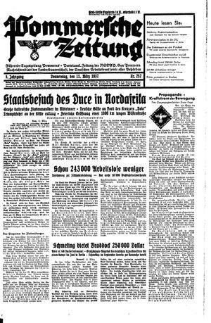 Pommersche Zeitung vom 11.03.1937