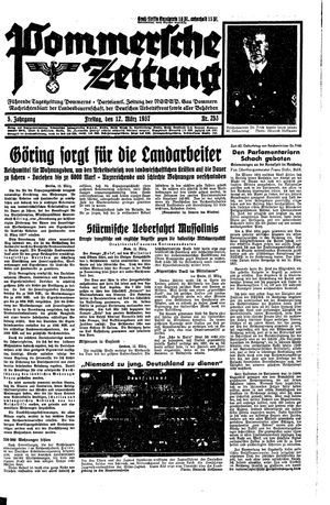 Pommersche Zeitung vom 12.03.1937