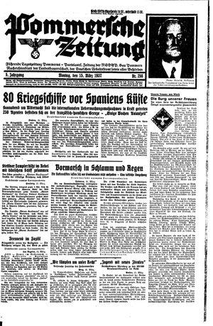 Pommersche Zeitung vom 15.03.1937