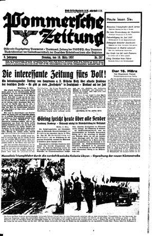 Pommersche Zeitung vom 16.03.1937