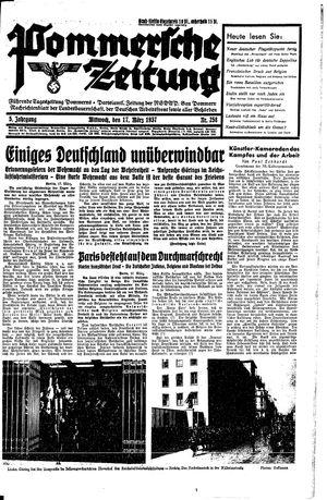 Pommersche Zeitung vom 17.03.1937