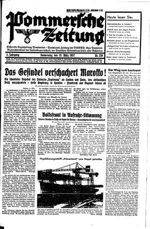 Pommersche Zeitung vom 18.03.1937