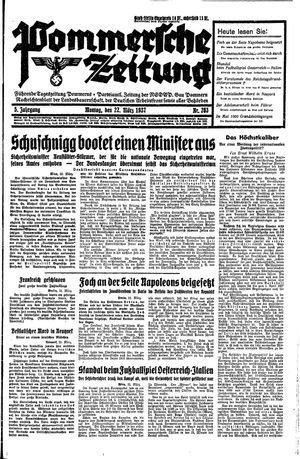 Pommersche Zeitung vom 22.03.1937