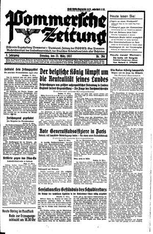 Pommersche Zeitung vom 23.03.1937