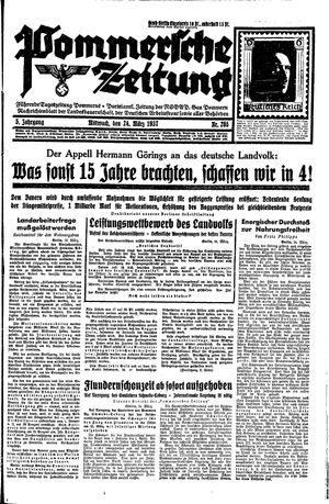 Pommersche Zeitung vom 24.03.1937