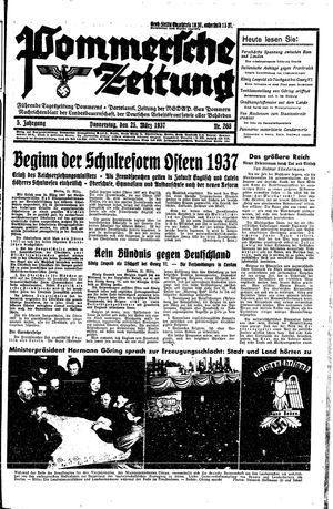 Pommersche Zeitung vom 25.03.1937
