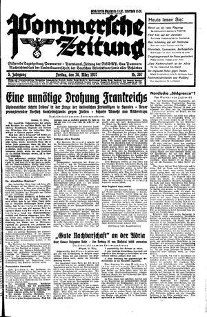 Pommersche Zeitung vom 26.03.1937