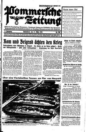 Pommersche Zeitung vom 27.03.1937