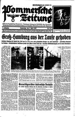 Pommersche Zeitung vom 01.04.1937