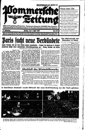 Pommersche Zeitung vom 02.04.1937