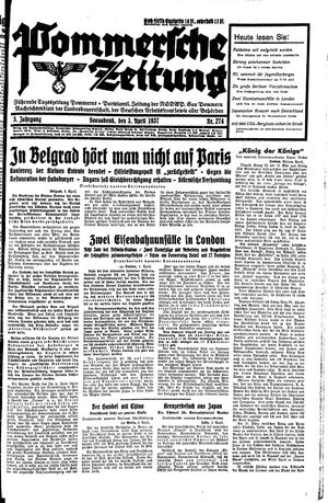 Pommersche Zeitung vom 03.04.1937