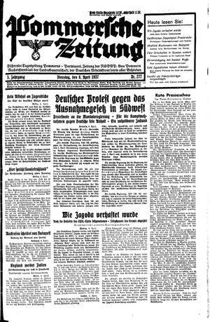 Pommersche Zeitung vom 06.04.1937