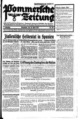 Pommersche Zeitung vom 10.04.1937