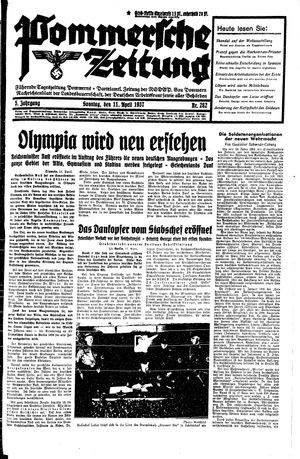 Pommersche Zeitung vom 11.04.1937