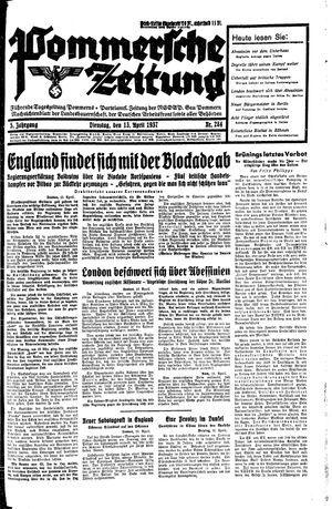 Pommersche Zeitung vom 13.04.1937