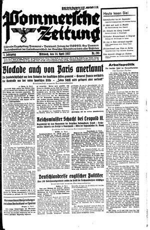 Pommersche Zeitung vom 14.04.1937