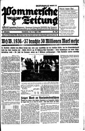 Pommersche Zeitung vom 17.04.1937