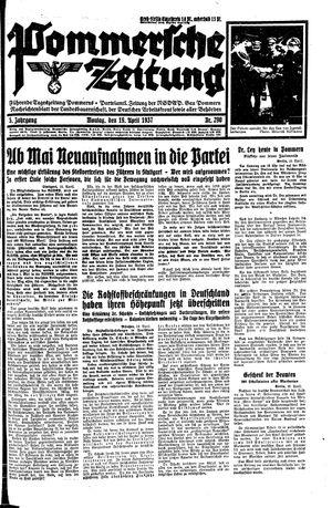 Pommersche Zeitung vom 19.04.1937