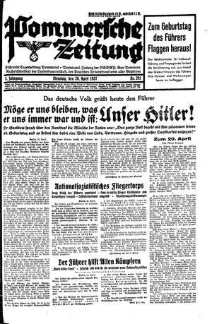 Pommersche Zeitung vom 20.04.1937