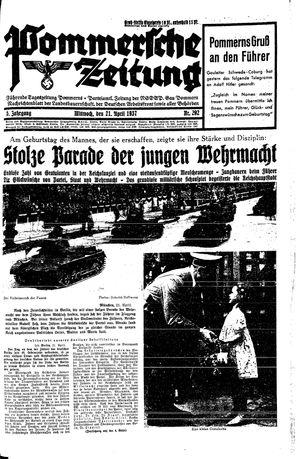 Pommersche Zeitung vom 21.04.1937