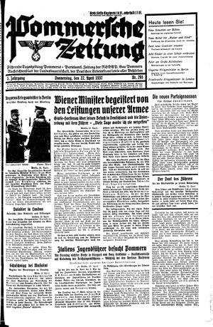Pommersche Zeitung vom 22.04.1937