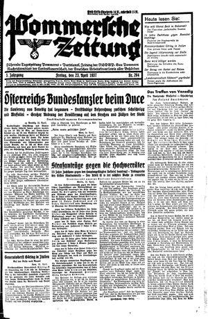 Pommersche Zeitung vom 23.04.1937