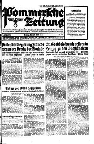 Pommersche Zeitung on Apr 26, 1937