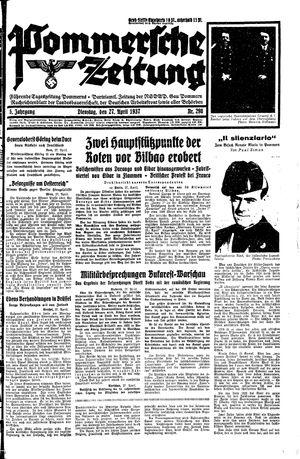 Pommersche Zeitung vom 27.04.1937