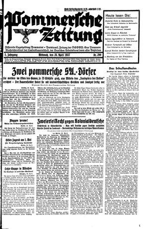 Pommersche Zeitung vom 28.04.1937