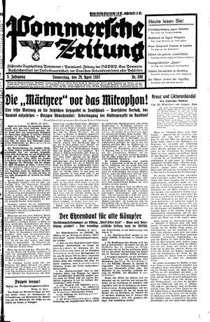 Pommersche Zeitung vom 29.04.1937