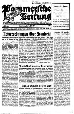 Pommersche Zeitung vom 01.07.1937