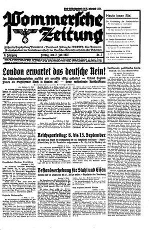 Pommersche Zeitung vom 02.07.1937