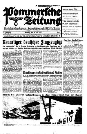 Pommersche Zeitung vom 04.07.1937