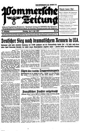 Pommersche Zeitung vom 06.07.1937